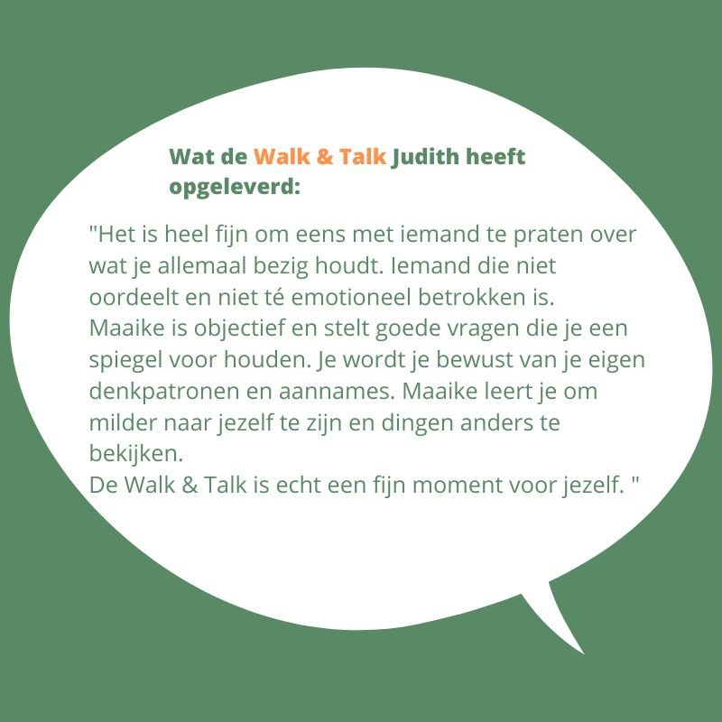 Judith walk & talk